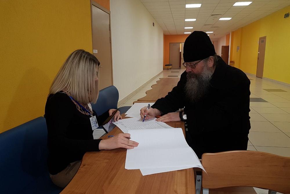 Митрополит Кирилл принял участие в голосовании на выборах президента России